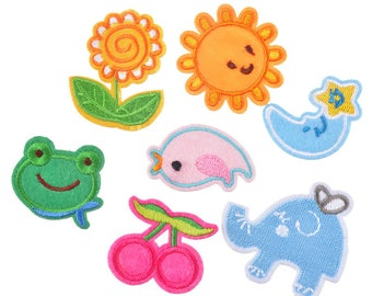 x 7 mixed patches-patch pattern children multicolor @A 15 seconds