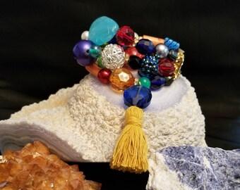Bracelet Earring Set,Bracelet,Earrings,Costume Jewelry,Handmade Jewelry,Beaded Jewelry,Bohemian Jewelry