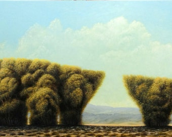 "Original Painting, Oil Painting, Fine Art Painting, Home Décor, Wall Décor, Decorative Wall Art, Board, Landscape, Tree, ""Tanglewood"", 24x60"