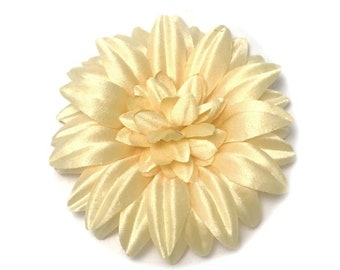 "3"" Cream Satin Opened Daisy Flower Pin"
