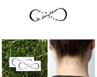 Infinity Believe Symbol  - Temporary Tattoo (Set of 2)
