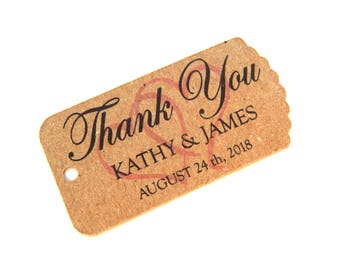 10 - 100 pcs. Custom Favor Tags, Wedding Favor Tag, Personalized Tag, Bridal Shower Tags, Thank You Tags, Gift Tag, Hang Tags, Party Favor