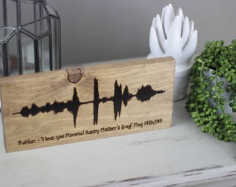 Personalized Sound Wave Art Custom Soundwave Gift for father's Day - Music Lover Gift - 5th Anniversary Sign - Voice Art - Father's Day Gift