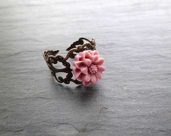 Resin ring and pink print