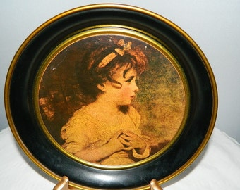 The Age of Innocence by Sir Joshua Reynolds - Vintage Tin Plate
