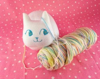 Cat Loaf Plush | Cute White Cat Plush Toy | Loaf Cat Stuffed Animal