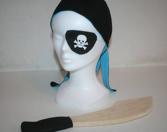 Pirate Costume: bandana - cover look - sword for Carnival - parties - birthday - Christmas