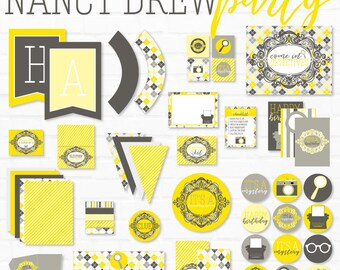 Nancy Drew Party PRINTABLES (INSTANT DOWNLOAD) by Love The Day