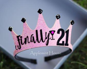 21 birthday, woman birthday crown,birthday custom Crown,Birthday Crown,21 Birthday Crown,Adult birthday crown,personalized crown