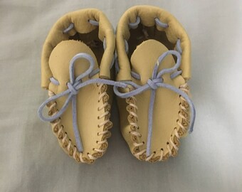 Handmade Leather Baby Moccasins