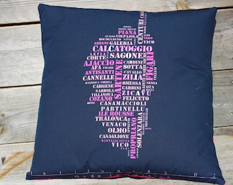"Corsica ""Design"" black & fuchsia pink pillow cover"