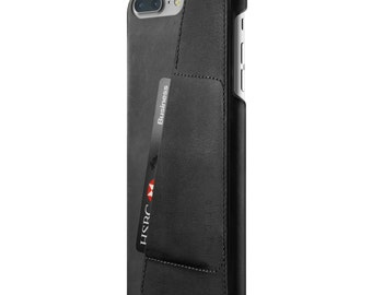 Mujjo Leather Wallet Case for iPhone 7 Plus - Black