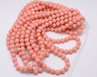 Jade Beads Round Coral 10MM