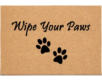 24 x 36 - Wipe Your Paws -  DuraCoir Funny Mat