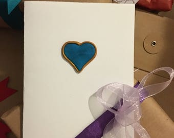 Pretty greeting card with heart