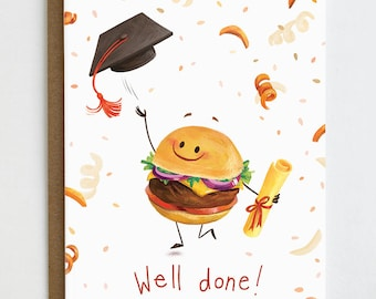 Funny Graduation Card, Congrats Grad, Well Done