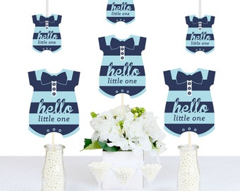 Hello Little One - Blue and Navy - DIY Decorations Party Essentials - 20 Count