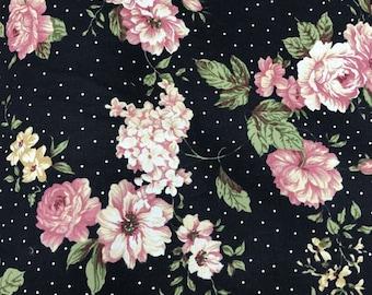 FABRIC : Flower Printed  100% Cotton Oxford 20Su 01