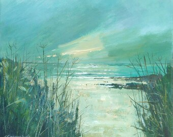 Giclee print, original cornish seascape, coastal art, beaches, made in Cornwall