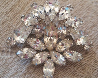 1950s Rhinestones Sparkling Vintage Pin Bridal Wedding Cocktail Party Hollywood Glamour
