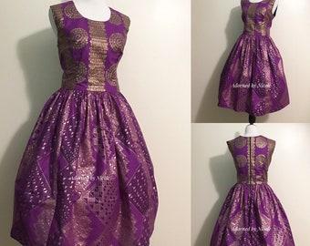 Feeling Royal-African Print Dress