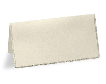 Deckled Edge Blank Ivory Place Cards for Weddings (Pack of 50)