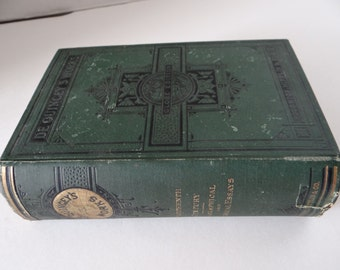 Vintage/Antique 1881's- De Quincey's Work- Globe Edition- 18 Century Biographical and Historical Essays- Hard Cover Book