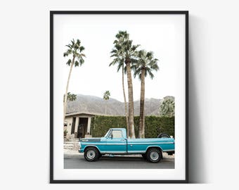 Palm Springs FineArt Photograph, Old Turquoise Ford Truck, Decorating Ideas, Wall Decor, Wall Art, Gift Ideas, Home Decor, Photography