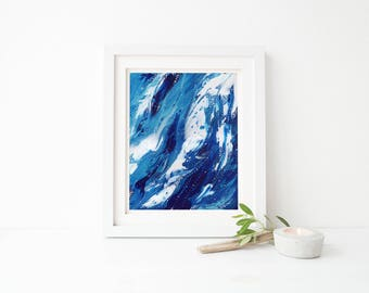From Whence We Came, 8x10, 11x14 original art, original painting, abstract art, abstract painting, ocean art, wall decor, wall art