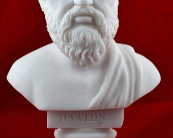 Plato Bust greek statue White NEW