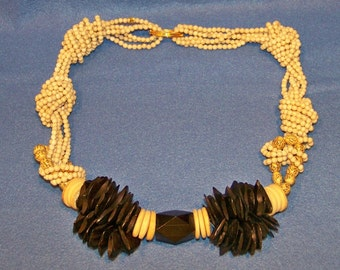 Vintage 70's Beads, Beads And More Beads Necklace