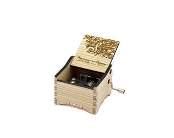 Stairway to Heaven - Personalised / Engraved Hand Crank Wooden Music box