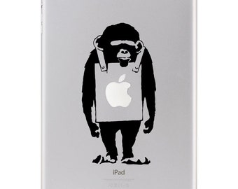 Sticker iPad - Banksy Monkey
