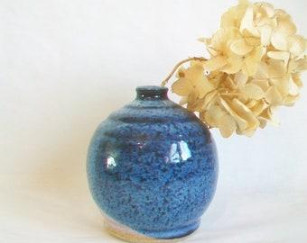Blue/Dark Blue Speckled Vase - Layered Glaze -  Actual Vase - Ready to Ship