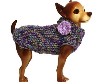 Dog Clothes - Hand Knit Dog Sweater