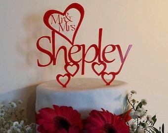 Personalised wedding cake topper, wedding cake topper, cane topper, mr and mrs, mr and mr, mrs and mrs