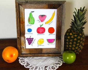 Fruit of the Spirit Printable Art, Home Decoration, Instant Download, Digital Download, Bible Verse, Galatians 5:22-23, Inspirational