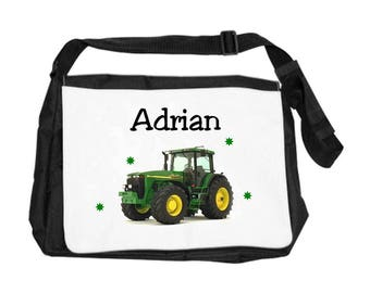 Tractor personalized with name shoulder bag