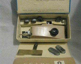 Sears 2060774 Buttonhole Sewing Machine Attachment with six button templates