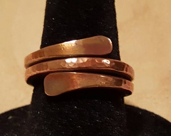 Copper hammered ring