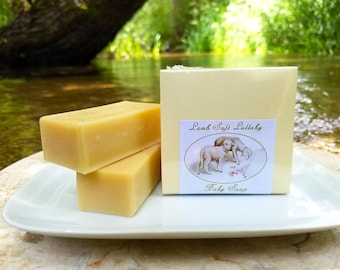 """Baby Soap - """"Lamb Soft Lullaby"""" Unscented Soap, Animal Soap, Sheep Soap, Lamb Soap, Baby Shower Soap, Gender-neutral, Baby Gift"""