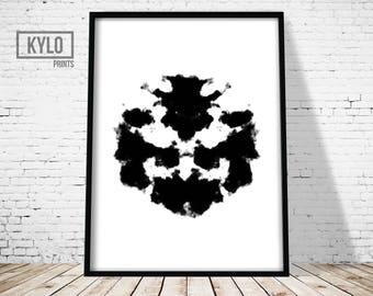 Rorschach Print, Abstract Art Print, Ink Blot, Printable Art, Abstract Poster, Office decor, Home Printable, Wall Art, Minimalist Art Print