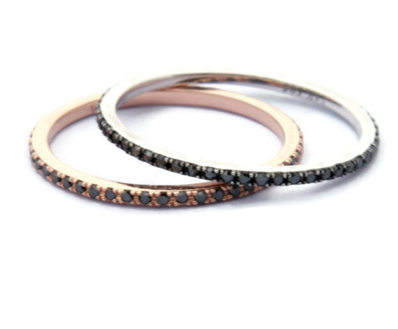 curved blk band light fairy diamond bands black catbird eternity