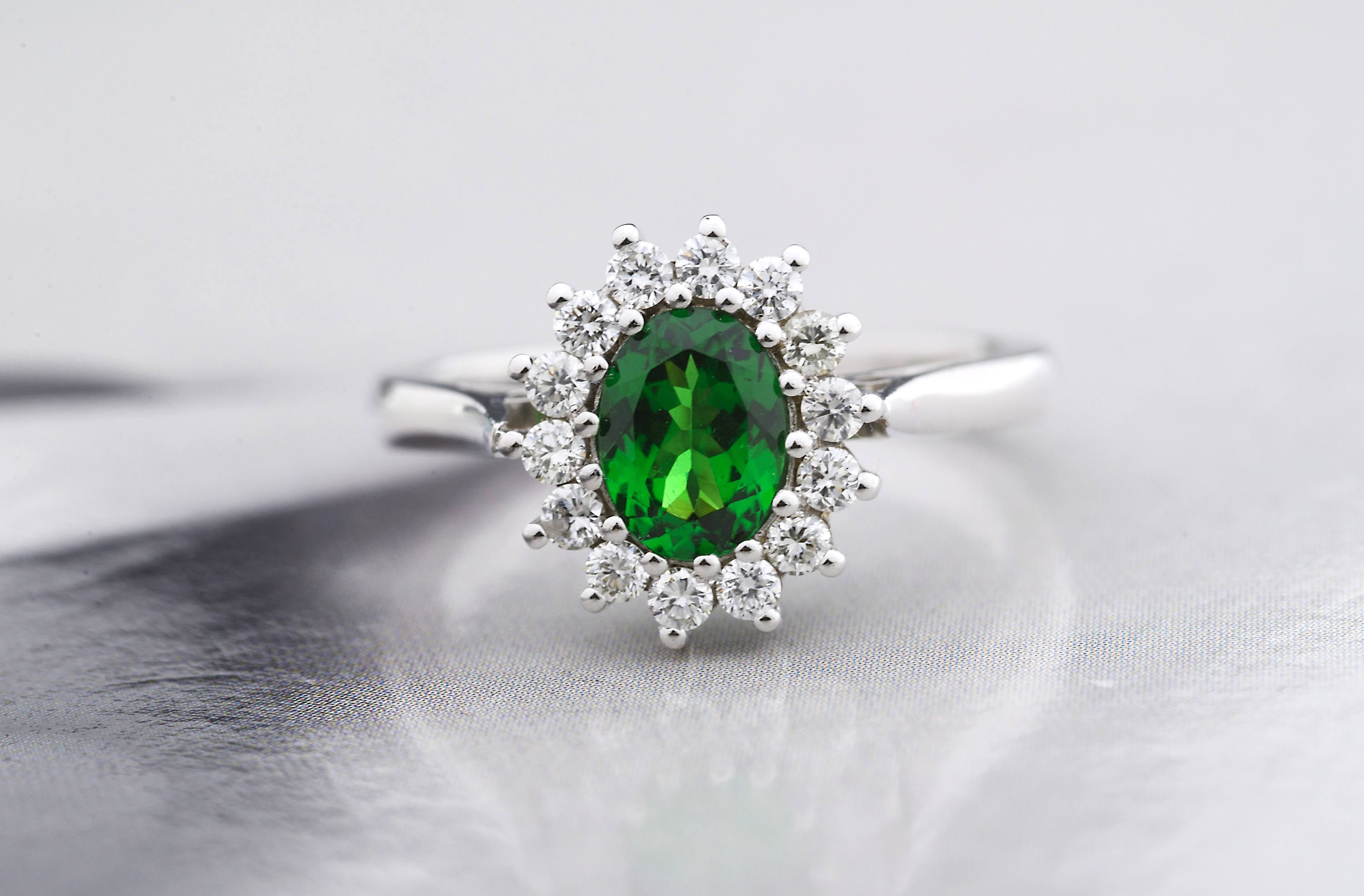 engagement in yellow zahm diamonds green gold garnet philip with tsavorite tw rings ring