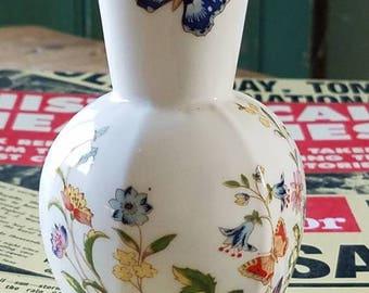 "Vintage Small Floral ""AYNSLEY"" Fine Bone China Vase!"