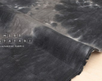Japanese Fabric handprinted 100% linen - 4 -  50cm