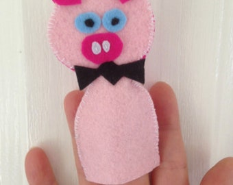 Professor Pig is an original design and handmade Finger Puppet - Order Your Version of Professional Pig today!