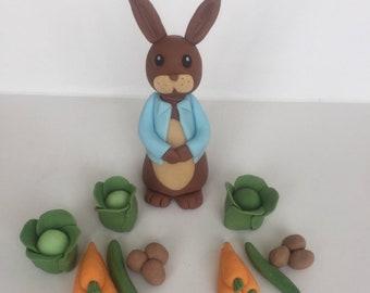 Peter rabbit edible cake topper, beatrix potter
