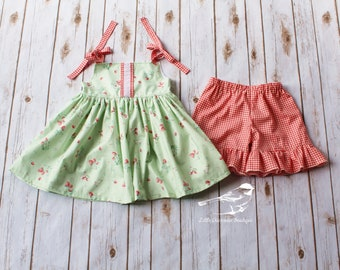 Girls short set Toddler short set Baby girl short set Short and tunic set summer short set Picnic outfit Strawberry boutfit Bunny outfit