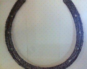 5' horse shoe, western Theme, Western Decor, Horse Art, Country theme, Rodeo, Ranch, Ranch Art, Barn Art, Ranch Decor, Ranch, Statement
